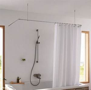 Halterung Für Duschvorhang : phos dsu duschvorhang halterung f r badewanne und dusche in u form ~ Markanthonyermac.com Haus und Dekorationen