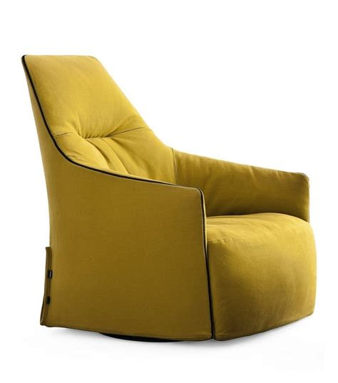 chaise longue cuir santa lounge leather swivel armchair poliform
