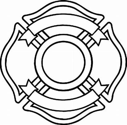 Maltese Fire Cross Department Coloring Badge Blank