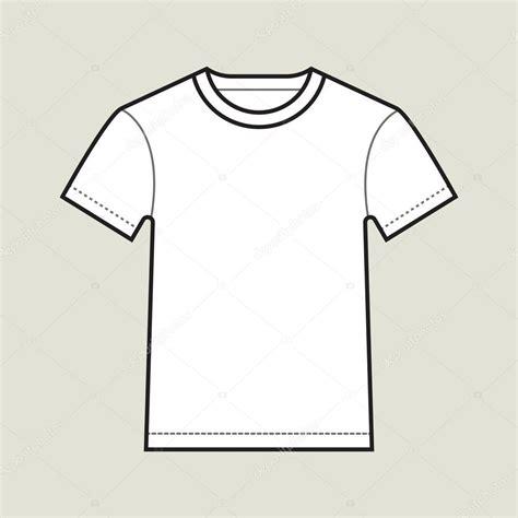 st polos plantilla de camiseta cuello redondo vector de stock