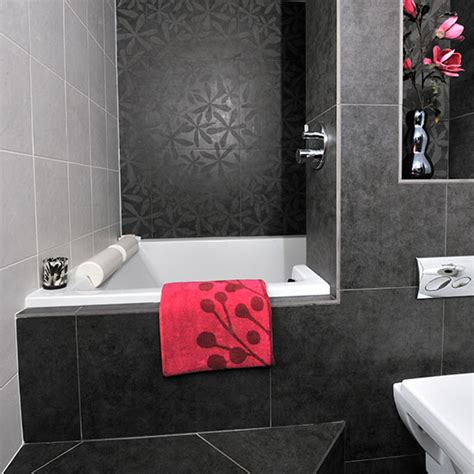 black and gray bathrooms bathroom with black and grey tiles bathroom decorating ideal home