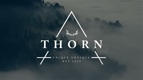 design  thorn hipster logo  photoshop youtube