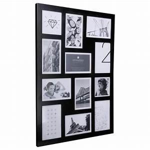 Pele Mele Photo : cadre photo p le m le mural capacit 12 photos noir ~ Nature-et-papiers.com Idées de Décoration