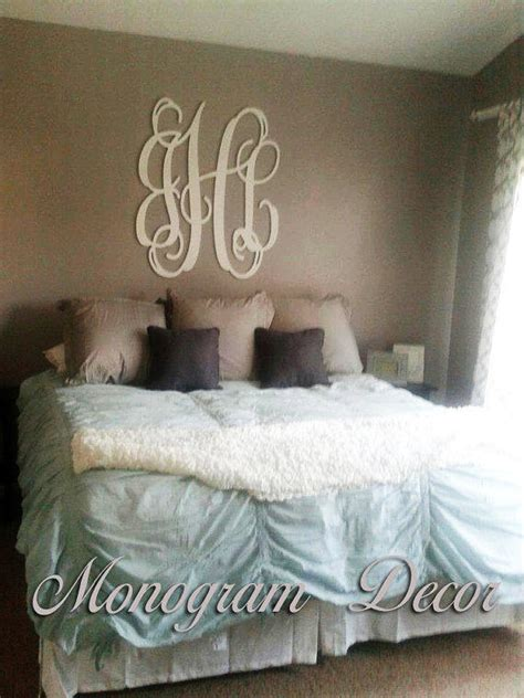 wooden monogram wall letters