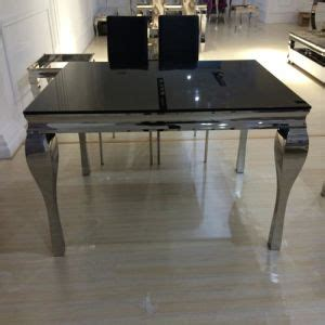 China Black Tempered Glass Dining Table  China Dining