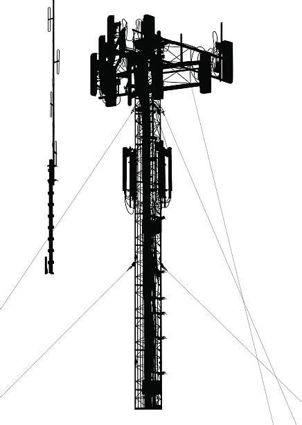 royalty free cell phone tower clip art vector images illustrations istock