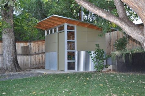 modern shed corrugated metal siding  part  exterior
