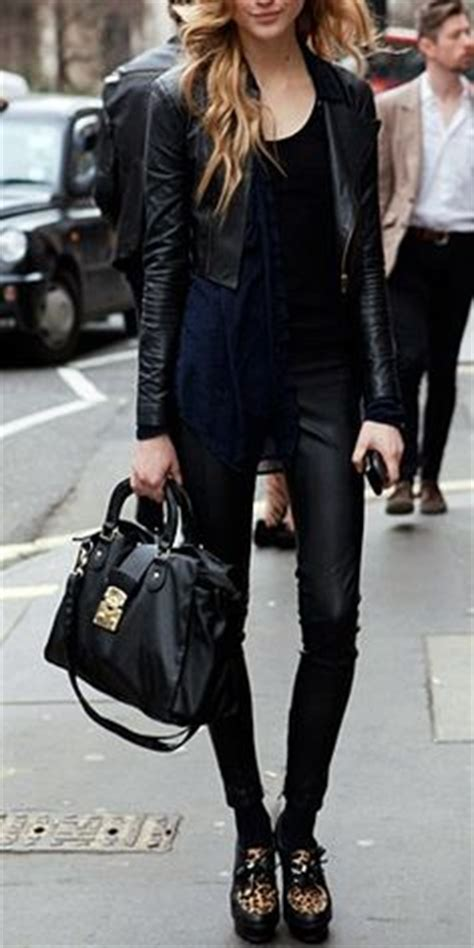 Images About Black Leather Jackets Pinterest