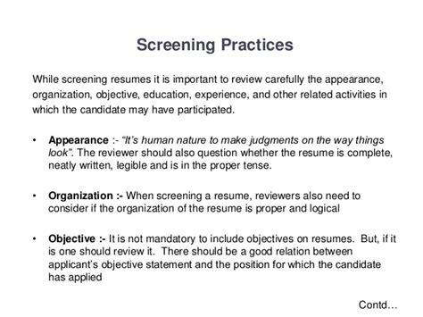 Resume Screening by Resume Screening