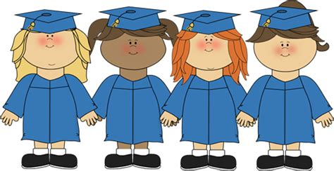 preschool graduation clip clipart panda free 656   preschool graduation clip art girls graduating