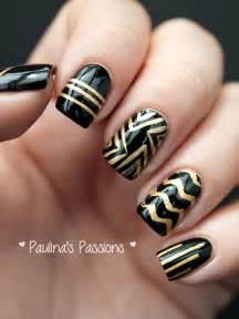 Perfect black and gold nail art designs