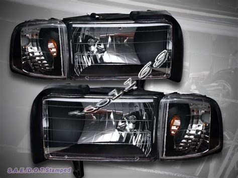 94 02 dodge ram headlights black corner lights 95 96 97