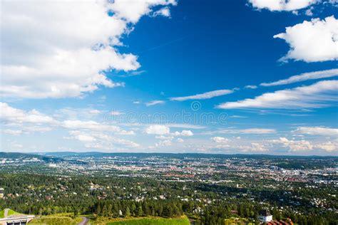 Vista Di Panorama Di Oslo Fotografia Stock Immagine Di