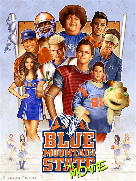 Blue Mountain State Movie Poster By Kevmcgivernart On