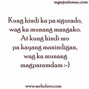 Mga Tagalog Ins... Banat Patama Quotes