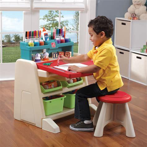 step 2 desk and stool flip doodle easel desk with stool kids art desk step2