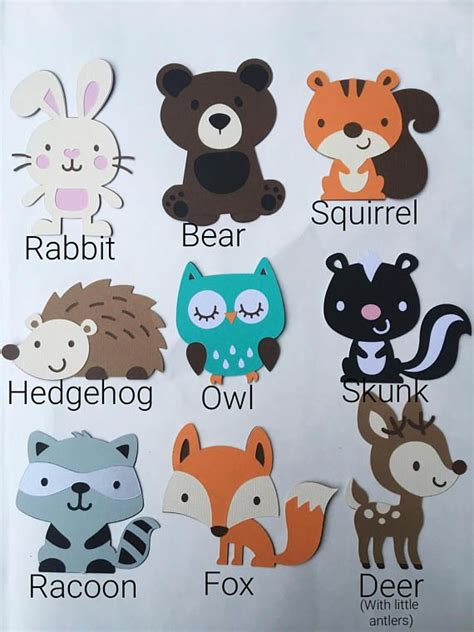 Customized fox deer woodland animal forest themed baby or