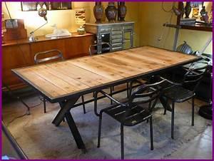 Table Bois Et Fer : 8 grandes tables fer bois geonancy design ~ Teatrodelosmanantiales.com Idées de Décoration