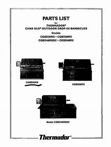 Thermador Cgbd30rx Gas Grill Parts