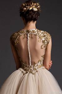 making a statement with the back of your wedding dress With wedding dresses with gold detail