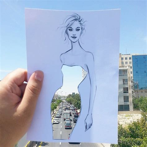 artist completes  cut  sketches  skies