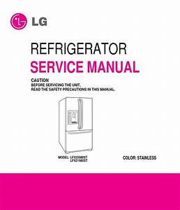 Lg Lfx25980st Lfx25980st Refrigerator Service Manual And