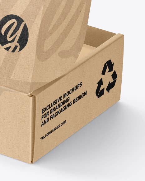 Free kraft box mockup | 22+ kraft box psd mockup templates 2019 collection. Opened Kraft Paper Mailing Box Mockup in Box Mockups on ...