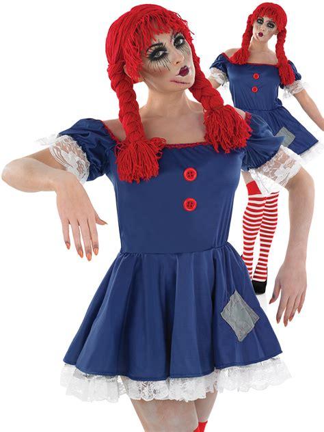 ladies scary rag doll costume  halloween fancy