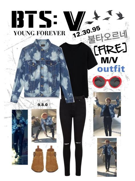 U0026quot;BTS V u0026quot;Fireu0026quot; M/V Outfitu0026quot; by itzbrizo liked on Polyvore featuring Miss Selfridge Theory and ...