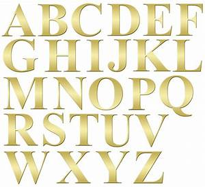 Alphabet letters gold clip art free stock photo public for Alphabet letters artwork