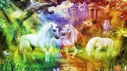Unicorn Desktop Backgrounds Rainbow Wallpapers Ipad Kingdom