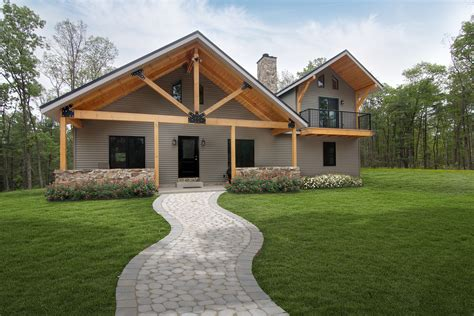 pole barn house post beam tour by timberhaven log and timber homes