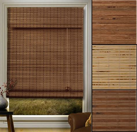 white wood blinds bamboo blinds