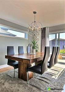 on aime cette salle a manger a la fois rustic et With salle À manger contemporaine avec salle À manger contemporaine moderne