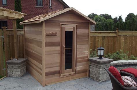 Backyard Sauna by Outdoor Cedar Cabin Sauna 6x8 Dundalk Canada
