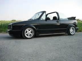 all black vw golf cabriolet mk1 with rsl wheels cabrio tdi golf mk1 black