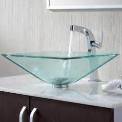 vessel sinks bathroom ideas kraus c gvs 901 19mm 15100ch clear aquamarine glass vessel sink typhon faucet modern