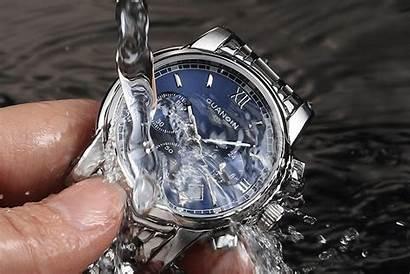 Business Luxury Silver Casual Wrist Clock Steel