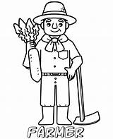 Coloring Farmer Pages Professions Easy Printable Children Topcoloringpages Simple Print sketch template