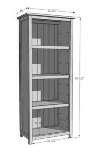 Ana White DIY Bookshelf Plans
