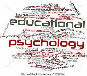 Abstract word cloud for educational psychology with ...