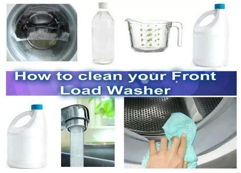 how to clean a front load washer cleaning front load washer housecleaning pinterest