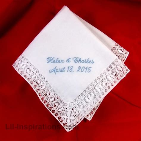 monogrammed handkerchief ladies hankie embroidered intricate lace ladies handkerchief custom embroidered