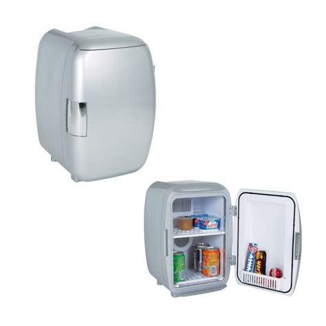 petit frigo de bureau mini frigo argenté design achat cadeau cuisine original