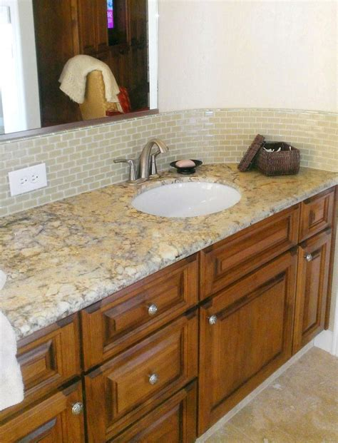 How To Install Glass Tile Backsplash In Bathroom by Bathroom Add Visual Interest To Your Bathroom With