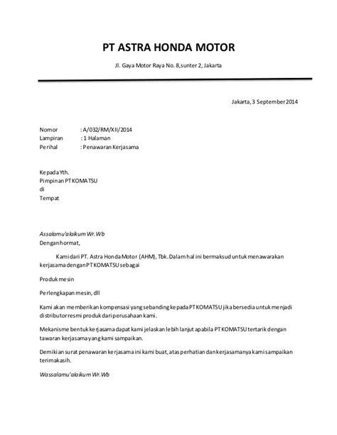 contoh surat perjanjian kerjasama pengadaan barang jasa