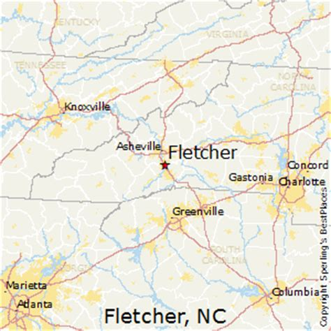 best places to live in fletcher carolina