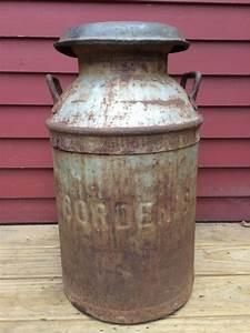Antique, Vintage, Borden, U0026, 39, S, Ny, Milk, Can, Keiner