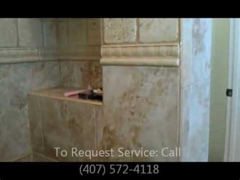 travertine tile shower remove mold  vapor steam