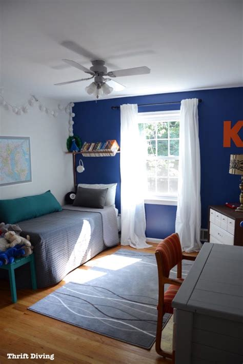 tween boys bedroom makeover reveal